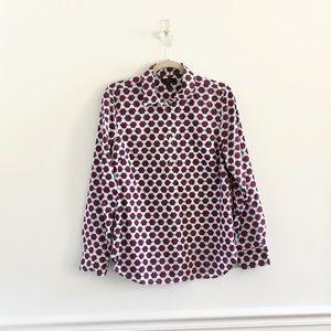 J.Crew Eyeglass Hexagon Print Popover Shirt